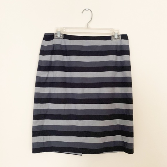 Halogen Dresses & Skirts - 🌵 Halogen Gray Striped Pencil Skirt Size 6